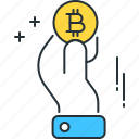 bitcoin, business, marketing, pay, payment, trading, transaction icon