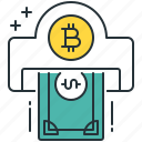 bitcoin, cash, currency, dollar, finance, money, withdraw icon