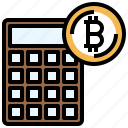 calculator, bitcoin, currency, business, money