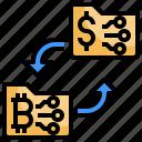 coin, integration, dollar, money, exchange, arrows