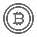 bitcoin, cryptocurrency, money icon