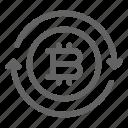 bitcoin, convert, transaction, transfer icon