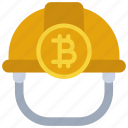 bitcoin, miner, hat, cryptocurrency, crypto