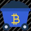 bitcoin, mining, cart, cryptocurrency, crypto