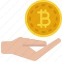 spend, bitcoin, cryptocurrency, crypto, hand
