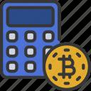 bitcoin, calculator, cryptocurrency, crypto, calculation