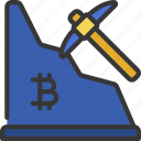 bitcoin, mining, miner, cryptocurrency, pickaxe
