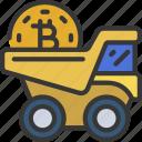 crypto, mining, truck, vehicle, bitcoin