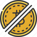 split, coin, cryptocurrency, crypto, bitcoin