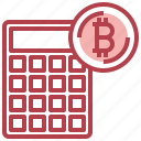 bitcoin, business, calculator, currency icon