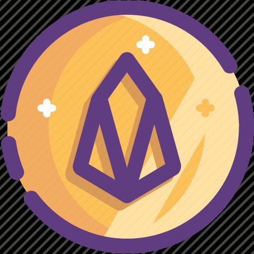 blockchain, coin, cryptocurrency, eos, ico icon