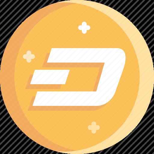 blockchain, coin, cryptocurrency, dash, ico icon