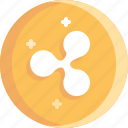 blockchain, coin, cryptocurrency, ico, ripple icon