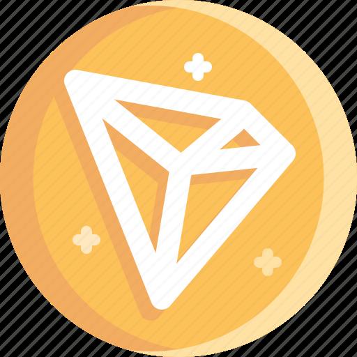 blockchain, coin, cryptocurrency, ico, tron icon