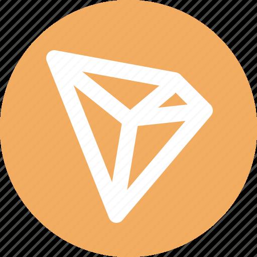 blockchain, crypto, cryptocurrency, ico, tron, wallet icon