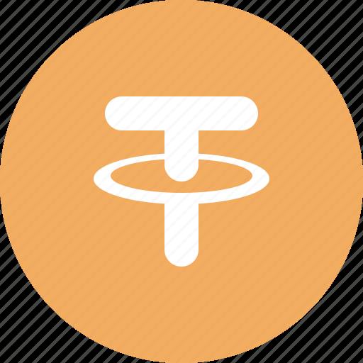 blockchain, crypto, cryptocurrency, ico, tether, wallet icon