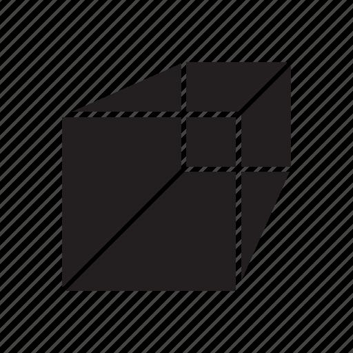 3d, box, cube icon
