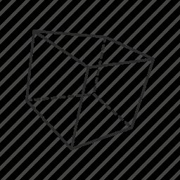 block, box, cube, geometric, square icon