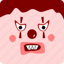 clown, halloween icon