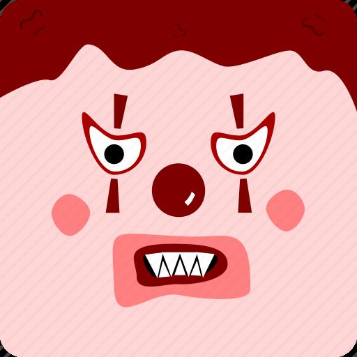 clown, halloween icon