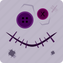 halloween, voodoo doll icon