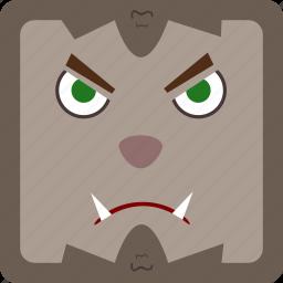 halloween, werewolf icon