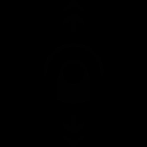 flick, vertical icon