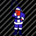 christmas, mall, santa, smoking, xmas icon