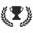 award, cup, laurel, winner icon