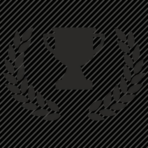 award, cup, laurel, winner icon