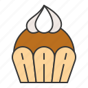 bakery, cake, cupcake, dessert, food, muffin, strawberry, sweets icon