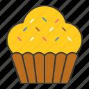 bakery, cake, cupcake, dessert, food, muffin, sugar, sweets icon
