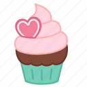 baking, cake, colour, cupcake, heart, love, sweets icon