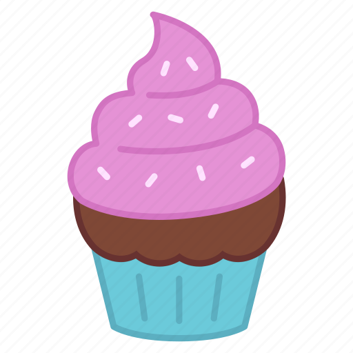 baking, cake, colour, cupcake, icing, sprinkles, sweets icon