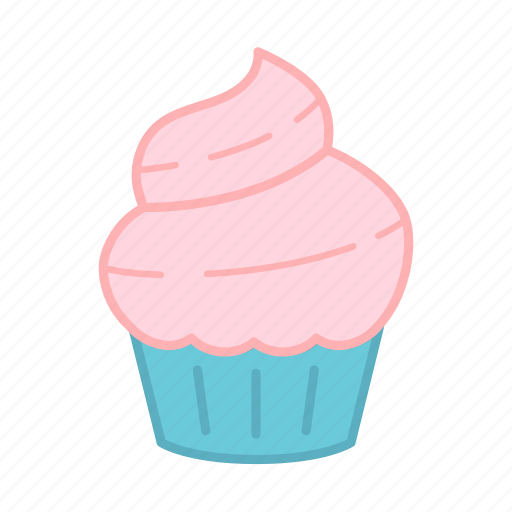 baking, cake, colour, cupcake, icing, pastel, sweets icon