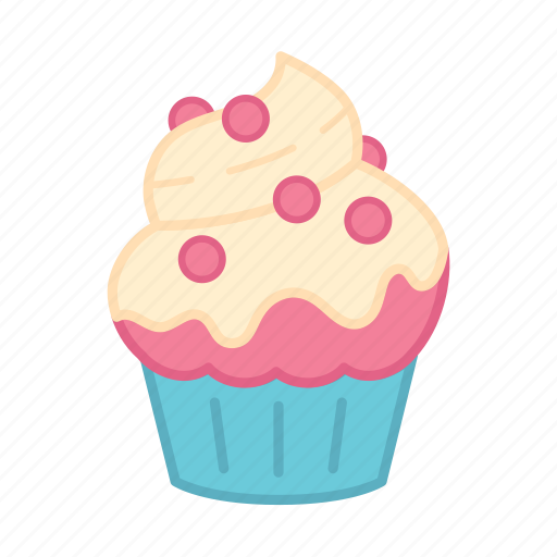 Baking Cake Colour Cupcake Decoration Icing Sweets Icon