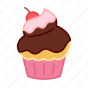 baking, cake, cherry, colour, cupcake, sauce, sweets icon