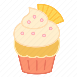 baking, cake, colour, cupcake, fan, icing, sweets icon