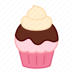 baking, cake, colour, cream, cupcake, icing, sweets icon