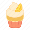 baking, cake, colour, cupcake, lemon, orange, sweets icon