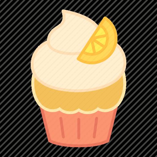 baking, cake, colour, cupcake, lemon, orange, sweets icon
