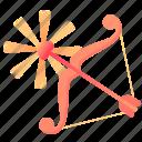 arrow, bow, cupid, equipment, holy, love, wonderful icon