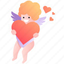affection, attraction, cupid, god, heart, kid, love icon