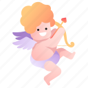 affection, god, cupid, heart, attraction, love, kid icon
