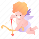 attraction, cupid, god, heart, kid, love, valentine icon