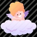 cupid, god, kid, love, watch, angel, heaven icon