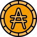 austral, coin, money, cash, currency, coins, finance