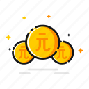 coin, currency, dollar, finance, money, price, taiwan icon
