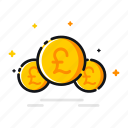 currency, ecommerce, finance, money, pound, uk, united icon
