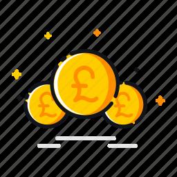 currency, ecommerce, finance, money, pound, uk, united icon